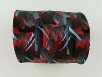 Jerry Garcia Mens Tie Black Red Blue Abstract Silk Neck Tie  W3.5'' L58''