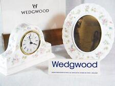 "Wedgwood Bone China ""Rosehip ""  Mantle  Clock & matching Picture Frame, Superb !"