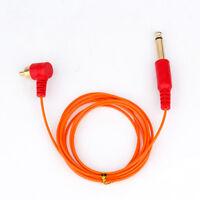 RCA Tattoo Clip Cord Cable Connector for Cartridge Machine Supply OrangeClipcord