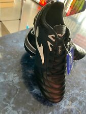 Joma Aguila Gol Black WhiteLeather Edition Soccer Classic Cleats Size Mans  7.5