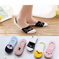 5 Pairs Women Cotton Invisible No Show Nonslip Loafer Boat Liner Low Cut Socks