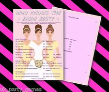 Hen Night Party Games - WHO KNOWS THE BRIDE BEST  FREE P&P - 20 players