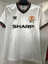 1983 Manchester United Away Retro Jersey Tshirt Soccer Sport Vintage