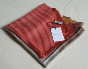 PAUL SMITH PASHMINA SCARF SILK WOOL SIGNATURE SWIRL NEW WITH TAGS RRP £175