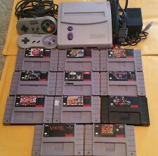 Super Nintendo SNES Mini Console 11 Donkey Kong Batman Mario Star Wars NBA Lot