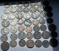 49 Bulk lot 1853-1917 COINS FROM FRANCE NAPOLEON III + Ceres +  liberty