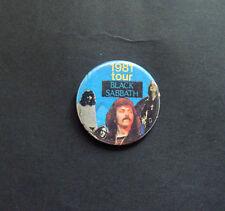 VINTAGE BLACK SABBATH TOUR 1981 BUTTON PIN BADGE NWoBHM OZZY OSBOURNE TONY IOMMI