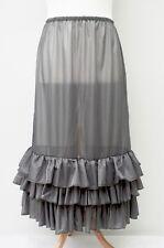 """Lagenlook * MAGNIFIQUE Maxi jupon/jupon/robe ** gris foncé ** Taille Jusqu'à 56"""""""