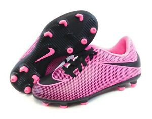 Girls Infant Toddler Nike JR Bravata II FG 844442 600 Pink Soccer Cleats Shoes