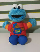 Sesame Street Talking 123 Cookie Monster Plush Toy  Learning Alphabet 18+ Months