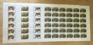 SPECIAL LOT WWF Russia 1993 6178-81 - Siberian Tiger - 4 Sheets of 36 - MNH