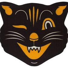 3' Foot Floor Rug Mat Black Orange Cat Halloween Retro Vintage Style Home Decor