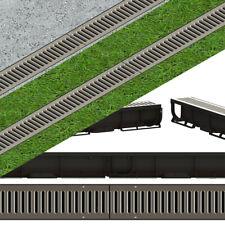 komplett Schwarz Line 3m Entwässerungsrinne für modulares System A15 98mm