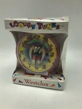 Westclox Looney Tunes Alarm Clock Tasmanian Devil Taz Red Nip Vintage 1994