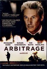 NEW DVD // Arbitrage // Richard Gere,Susan Sarandon, Laetitia Casta, Tim Roth