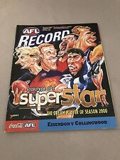 AFL 2000 Football Record Essendon V Collingwood