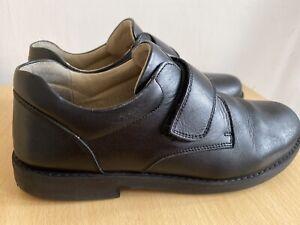 Hampton Classics Boys Black Leather School Shoes Size 39