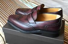 TESTONI NO GUCCI NO TODS SLIP ON CALF BURGUNDY scarpe uomo bordeaux man shoes