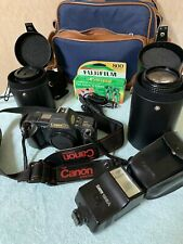 Canon Large Lot of vintage camera & lenses & accessories