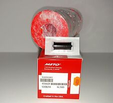 METO LABELS - to suit  5.16  1 Line Pricegun  Fluro Red  16500 + ink roller