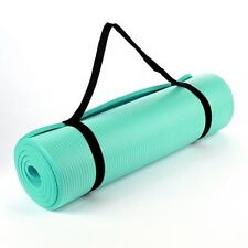 TURQUOISE 15MM NBR THICK EXERCISE FITNESS GYM YOGA MAT 190CM X 60CM