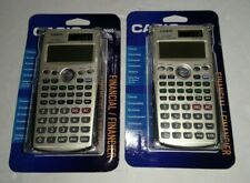 (lot of 2) Casio Fc-200V Financial Calculator with 4-Line Display