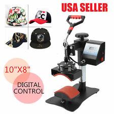 "10"" x 8"" Economic Clam Hat Cap Heat Press Machine Print Transfer Sublimation MAX"