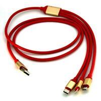Ladekabel 3 in1 Micro USB / Typ C / iphone IOS Multifunktions-Ladekabel Ne L5F9