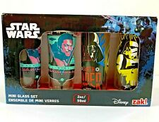 Star Wars Disney zak! Mini Glass Set 2oz - 4 pack Shot Glasses New in Box Gift