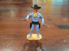 Timpo Cowboy - Double Gunner - Rare Light Blue Legs - Wild West - 1960's