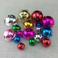 10 X Metal Jingle Bells Pendant Christmas Decor Bag Charm Wind Chime 30/40/50mm