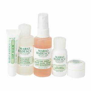 MARIO BADESCU Essentials To Go Set Cleanser Spray Moisturiser Eye Cream Lip Balm