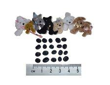 Miniature fimo Orso nero-cane Nasi Confezione da 20 (formati assortiti) ID01NB