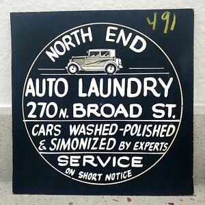 1920s CAR WASH SIGN