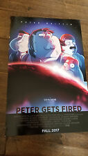 2017 SDCC COMIC CON EXCLUSIVE FOX POSTER FAMILY GUY PETER GETS FIRED QUAGMIRE