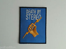 PUNK ROCK HEAVY METAL MUSIC SEW ON / IRON ON PATCH:- DEATH BY STEREO (a) D.B.S.