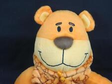 PEEKABOO TEDDY BEAR GG PRINT HOODIE ORANGE BROWN PLUSH STUFFED ANIMAL TOY