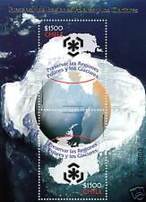 Chile 2009 Scott 1524 Block Souvenir - Protect Polar Regions - Melting Glaciers