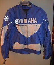 YAMAHA Factory Racing Padded Motorcycle Jacket  Size Large   Mens Blue White L