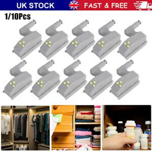10/20X LED Sensor Hinge Light for Home Kitchen Cabinet Cupboard Closet Wardrobe