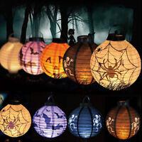 LED Paper Halloween Lantern Pumpkin Spider Bat Hanging Light Lamp Party Decor AU