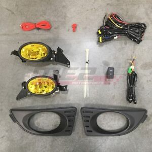For Acura RSX 05-07 Factory Replacement Fit Fog Lights + Wiring Kit Yellow Lens