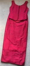 Dashwood & Brooke Red Silk Bridesmaids Top Corset Long Skirt UK 6-8
