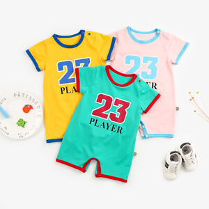 Newborn Baby Boy Girl Play 23 Romper Summer Bodysuit Jumpsuit Outfit Clothes