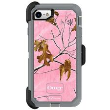 Apple iPhone 7 - OTTERBOX DEFENDER SERIES Case + Belt Clip REALTREE PINK CAMO