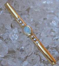 ✨0,10 ct.✨ Diamant Brosche in aus 14kt Gold 4 gr. mit Brillant Opal Opale Brooch