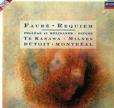 "FAURE Requiem TE KANAWA Milnes DUTOIT 12"" LP DECCA Digital Holland 421 440-1"