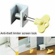 Steel Door Wndow Track Limiter Sliding Window Security Anti-theft Lock Kits