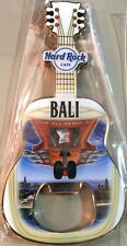 Hard Rock Cafe BALI AIRPORT 2016 Guitar MAGNET Bottle Opener PLANE LAND City Tee
