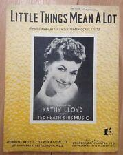 LITTLE THINGS MEAN A LOT - SHEET MUSIC - KATHY LLOYD
